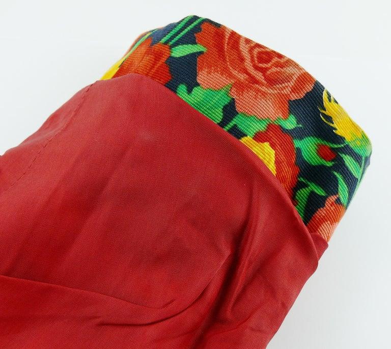 Yves Saint Laurent YSL Vintage Floral Print Skirt Suit Spring/Summer 1992 For Sale 8