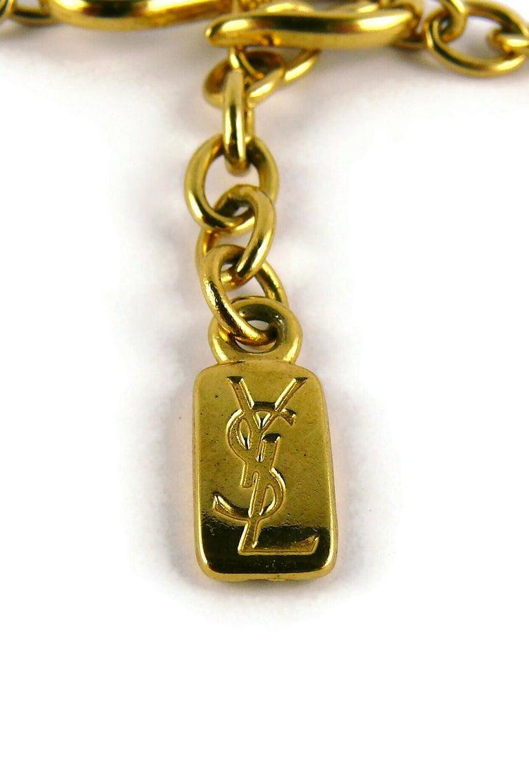 Yves Saint Laurent YSL Vintage Gold Toned Bird Necklace For Sale 7