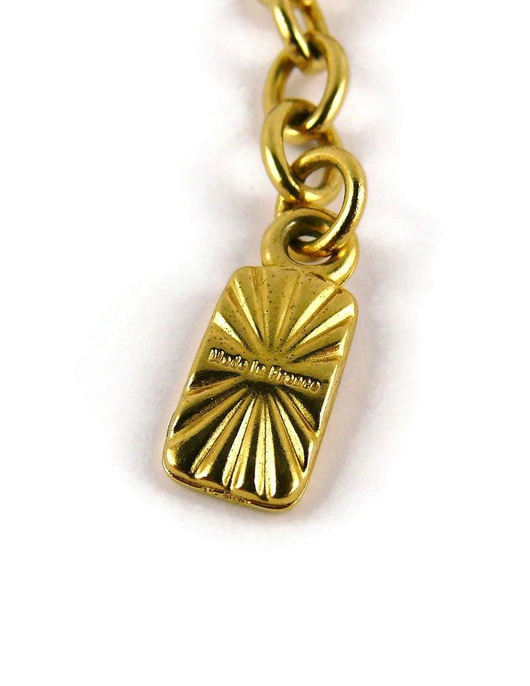 Yves Saint Laurent YSL Vintage Gold Toned Bird Necklace For Sale 8