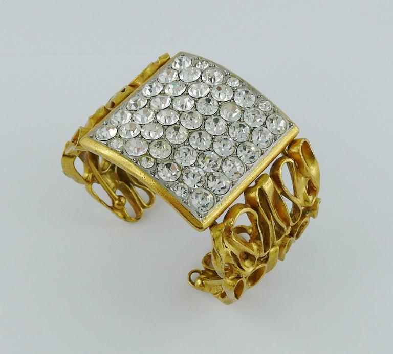 Women's Yves Saint Laurent YSL Vintage Gold Toned Wire Cuff Bracelet For Sale