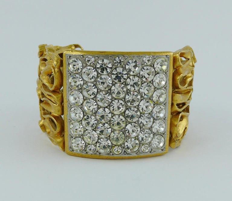 Yves Saint Laurent YSL Vintage Gold Toned Wire Cuff Bracelet For Sale 2