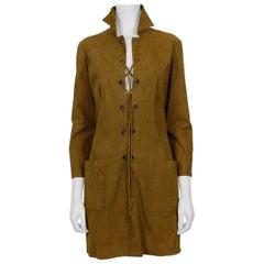 Yves Saint Laurent YSL Vintage Iconic Brown Safari Dress