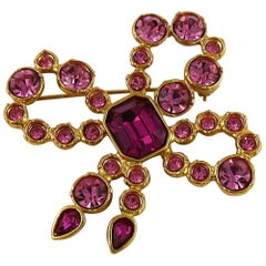 Yves Saint Laurent YSL Vintage Jeweled Bow Brooch