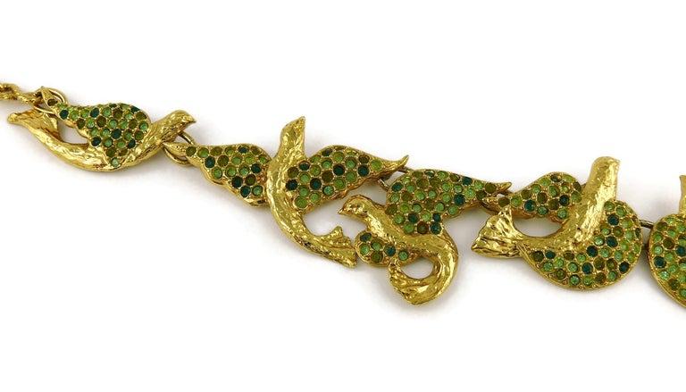 Women's Yves Saint Laurent YSL Vintage Jewelled Bird Necklace For Sale