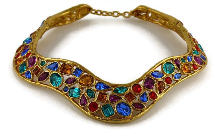 Yves Saint Laurent YSL Vintage Jewelled Choker Necklace For Sale 1