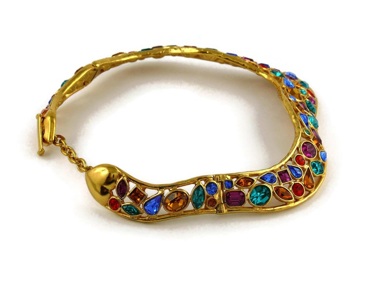 Yves Saint Laurent YSL Vintage Jewelled Choker Necklace For Sale 3