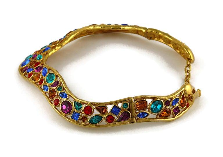 Yves Saint Laurent YSL Vintage Jewelled Choker Necklace For Sale 4