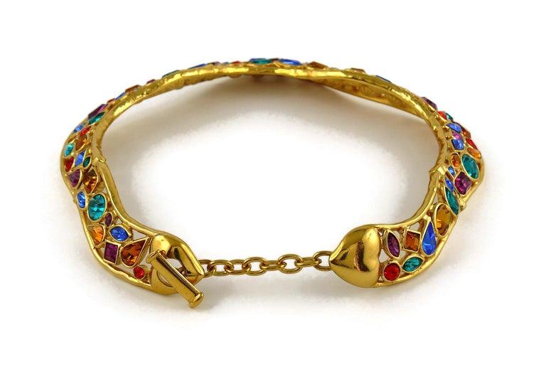 Yves Saint Laurent YSL Vintage Jewelled Choker Necklace For Sale 5