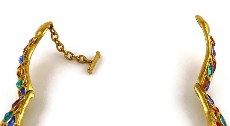 Yves Saint Laurent YSL Vintage Jewelled Choker Necklace For Sale 6