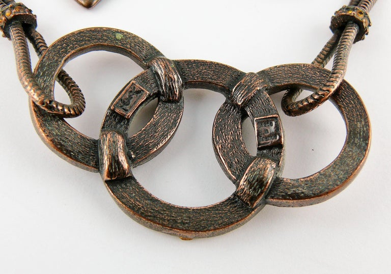 Yves Saint Laurent YSL Vintage Jewelled Rings Necklace For Sale 8