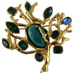 Yves Saint Laurent YSL Vintage Jewelled Tree Brooch Pendant
