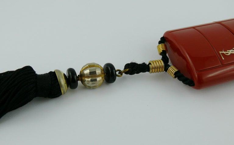 Yves Saint Laurent YSL Vintage Opium Inro Pendant Necklace For Sale 6