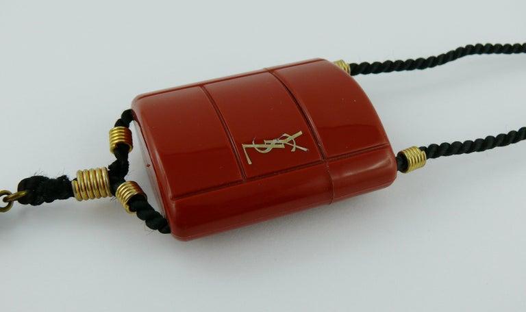Yves Saint Laurent YSL Vintage Opium Inro Pendant Necklace For Sale 7