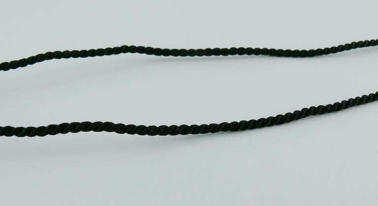 Yves Saint Laurent YSL Vintage Opium Inro Pendant Necklace For Sale 8
