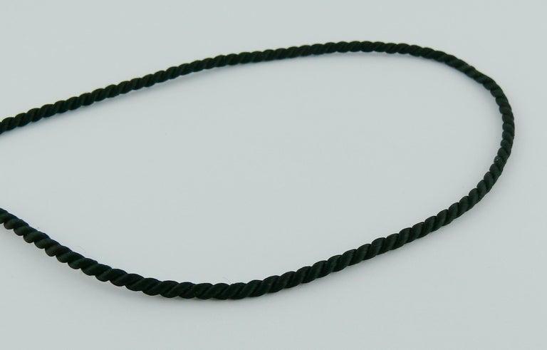 Yves Saint Laurent YSL Vintage Opium Inro Pendant Necklace For Sale 10