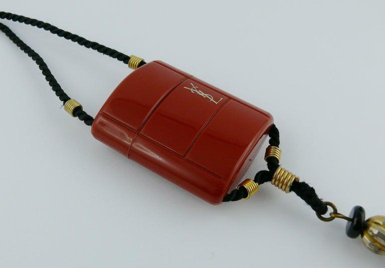 Yves Saint Laurent YSL Vintage Opium Inro Pendant Necklace For Sale 2
