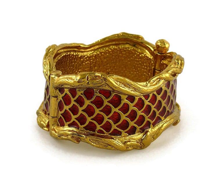 Yves Saint Laurent YSL Vintage Snake Serpent Cuff Bracelet For Sale 1