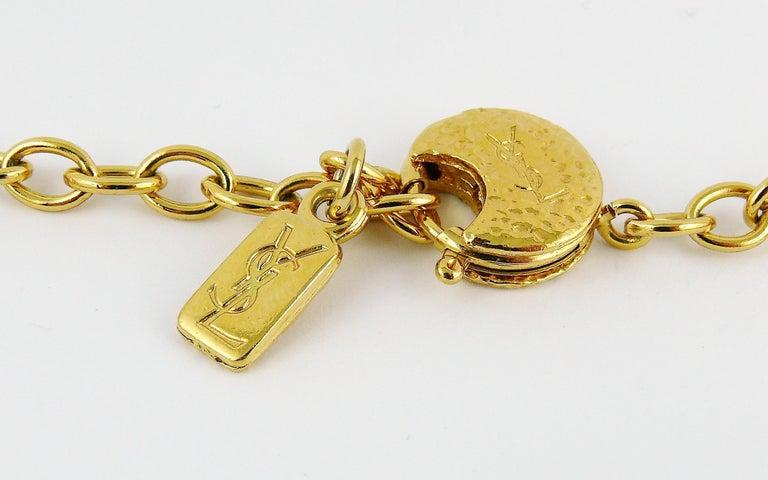 Yves Saint Laurent YSL Vintage Statement Crystal Necklace For Sale 8