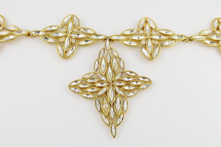Yves Saint Laurent YSL Vintage Statement Crystal Necklace For Sale 1