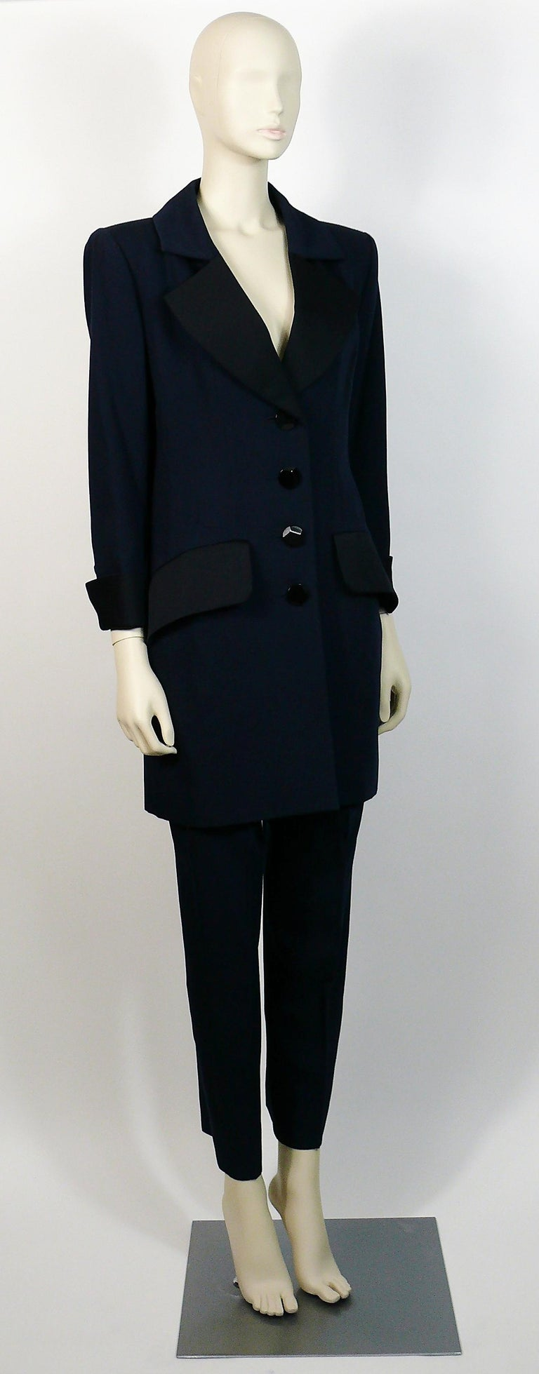 Yves Saint Laurent Ysl Vintage Two Piece Le Smoking Tuxedo