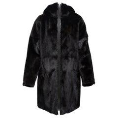 Yves Salomon Black 'Army' Reversible Mink Coat