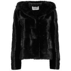 Yves Salomon Mink-Fur Hooded Jacket