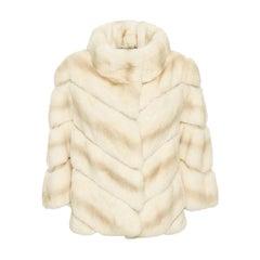 Yves Salomon Rex Rabbit-Fur Jacket