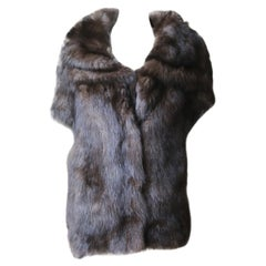Yves Salomon Sable-Fur Knitted Hooded Jacket