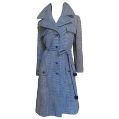 Yves St Laurent for Christian Dior Houndstooth Coat 1960s