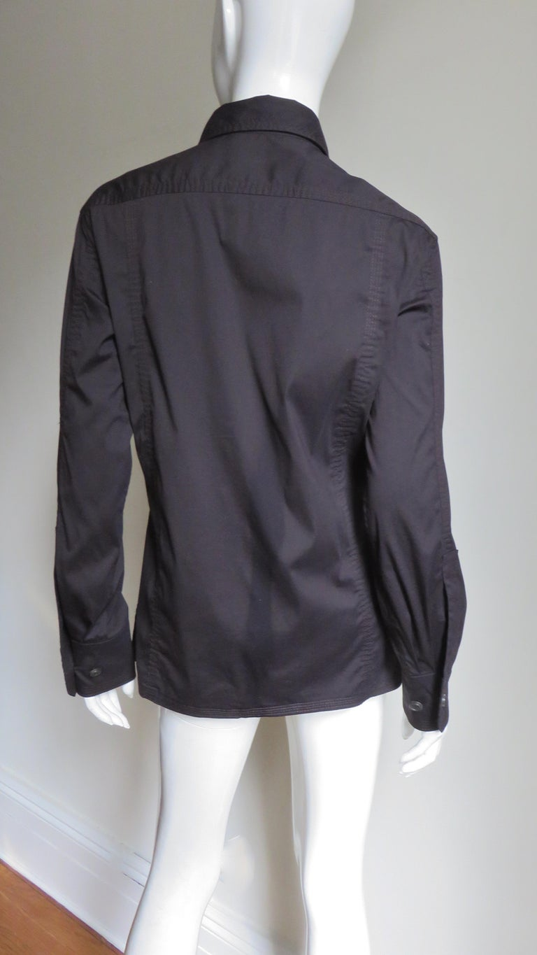 Tom Ford for for Yves St Laurent Lace up Safari Shirt For Sale 7