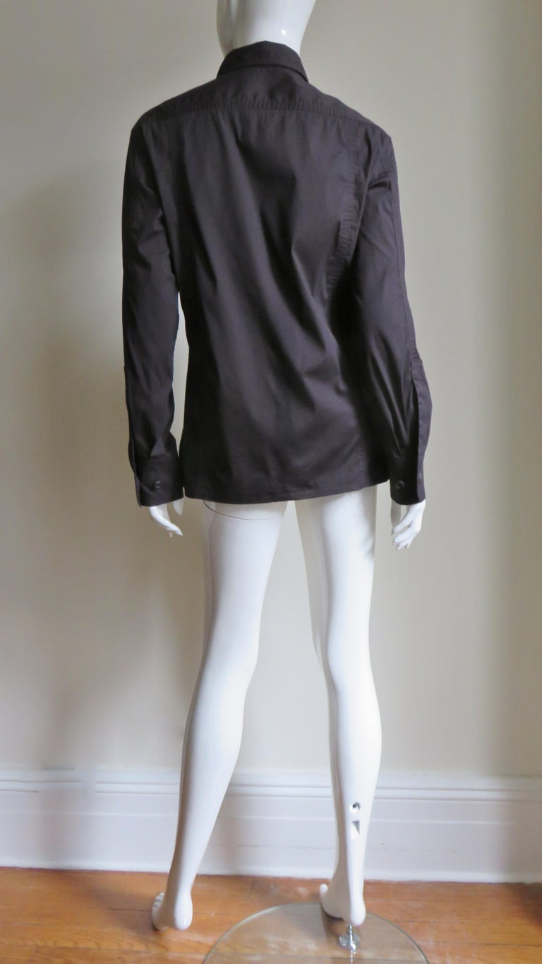 Tom Ford for for Yves St Laurent Lace up Safari Shirt For Sale 10