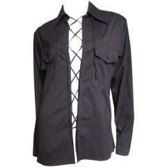 Yves St Laurent Lace up Shirt