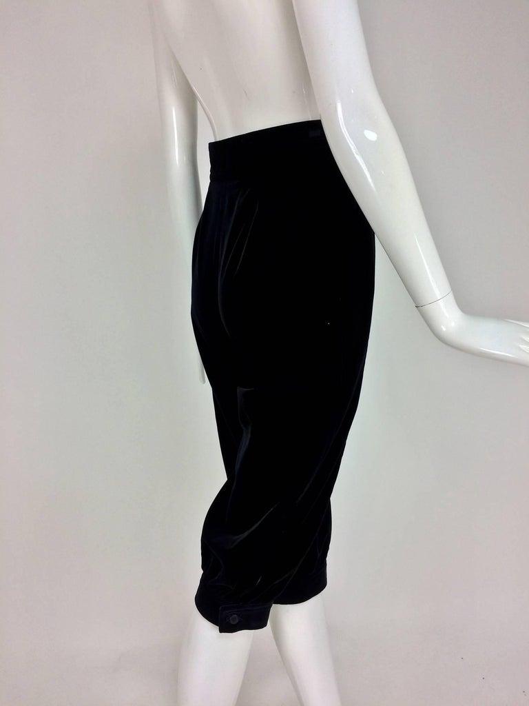 Women's Yves St Laurent Navy & Black Velvet Knickers 1970s For Sale