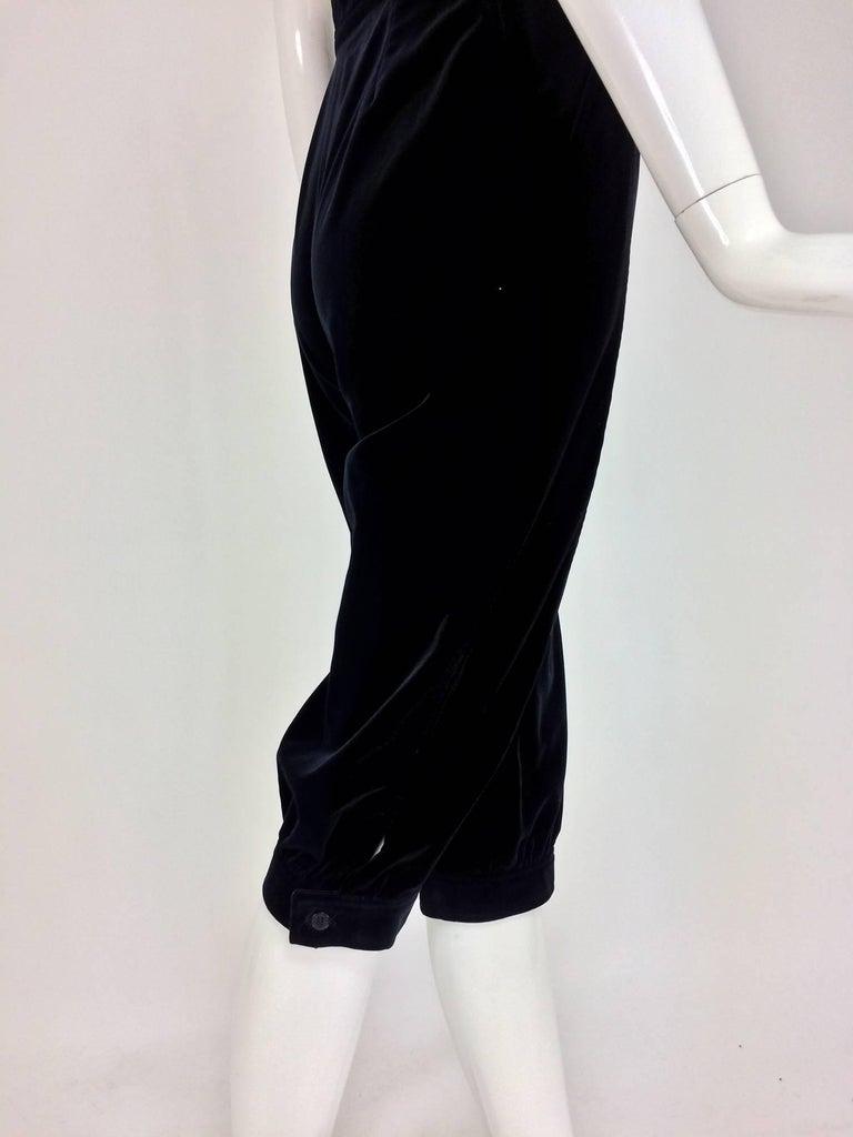 Yves St Laurent Navy & Black Velvet Knickers 1970s For Sale 1