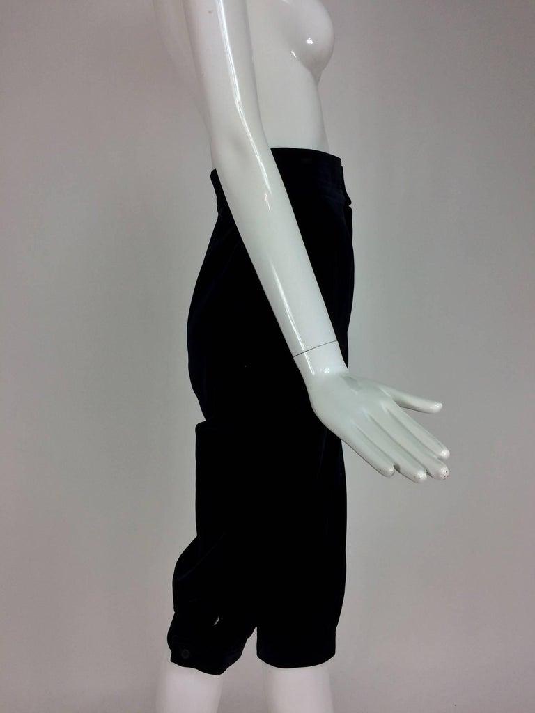 Yves St Laurent Navy & Black Velvet Knickers 1970s For Sale 2