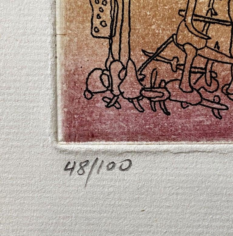 Untitled - Original Etching Handsigned Numbered /100 - Wittrock 18 For Sale 1