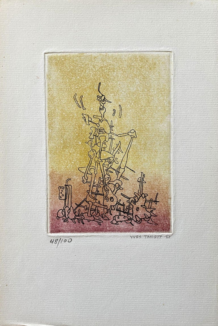 Untitled - Original Etching Handsigned Numbered /100 - Wittrock 18 - Print by Yves Tanguy