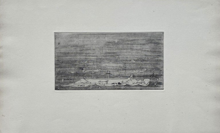 Untitled - Original Etching - Wittrock 5 - Print by Yves Tanguy