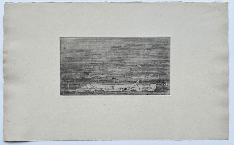 Untitled - Original Etching - Wittrock 5 - Surrealist Print by Yves Tanguy