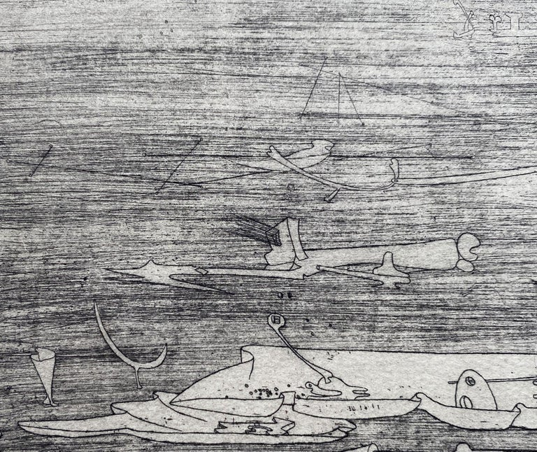 Untitled - Original Etching - Wittrock 5 For Sale 4