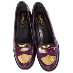 Yves Yves Saint Laurent Penny Loafers - purple