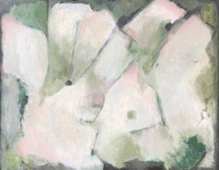 Greens & Pinks French Abstract Oil Painting