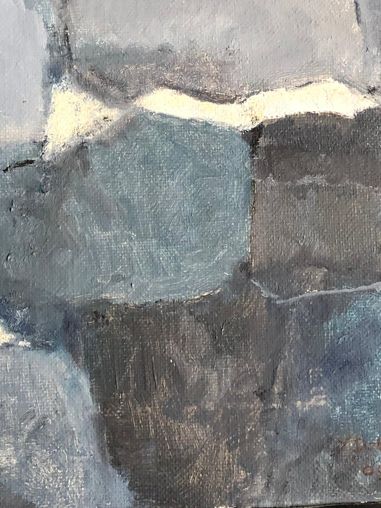 Parisian Abstract Expressionist Original Oil Painting - For Sale 2