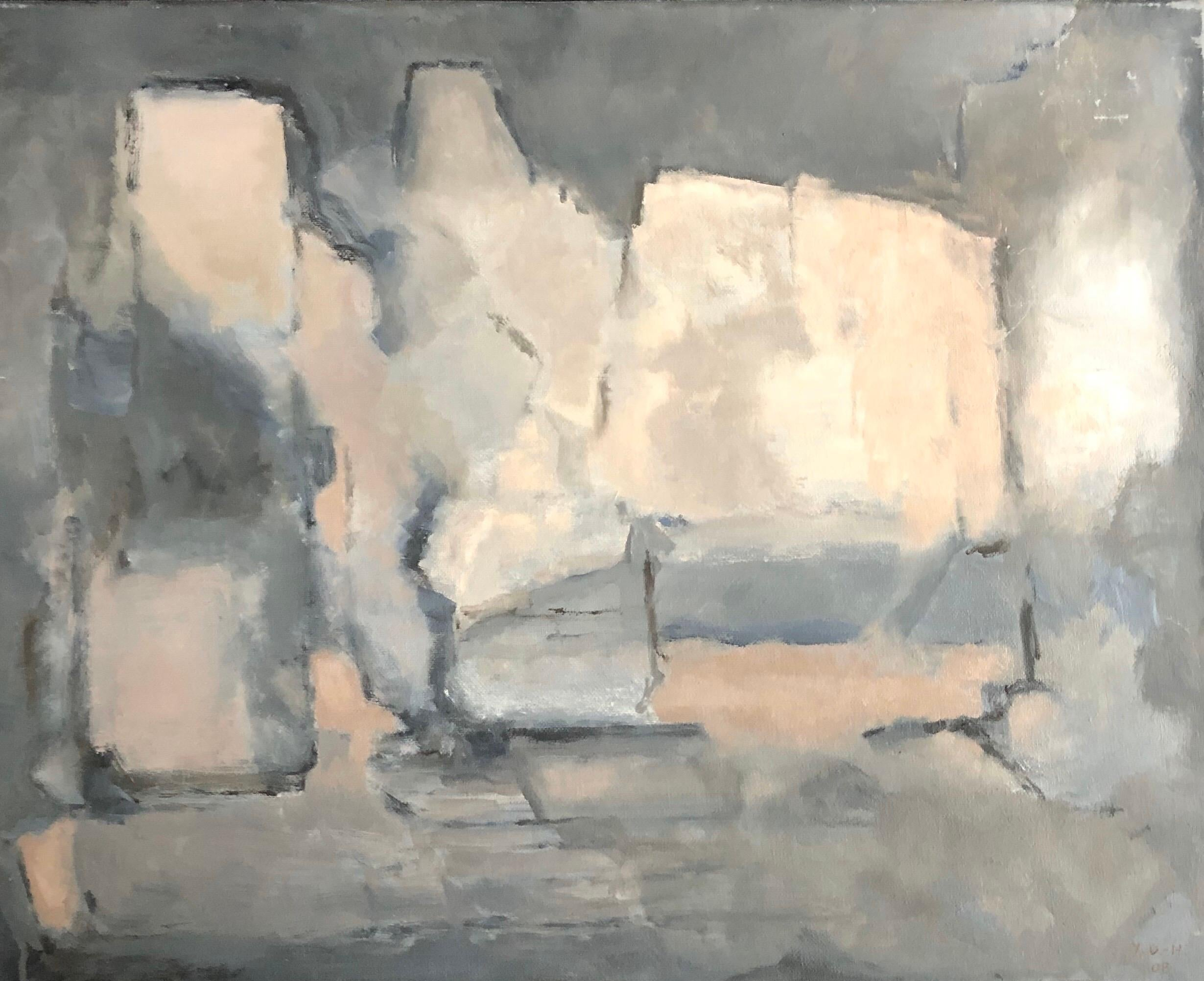 Parisian Abstract Expressionist Original Oil Painting -