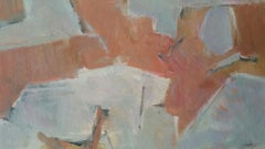 Parisian Abstract Expressionist Original Oil Painting - Neutrals and Terracotta