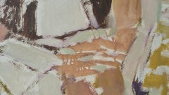 Parisian Abstract Expressionist Original Oil Painting - Neutrals, Rose and Ochre