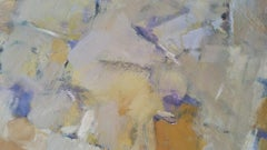 Parisian Abstract Expressionist Original Oil Painting - Stone Neutrals and Ochre