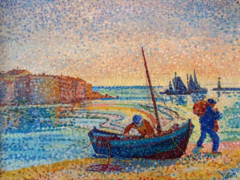 Yvonne Canu Landscape Painting - Le Petit Port