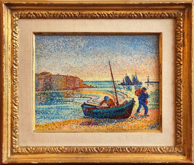 Le Petit Port - Painting by Yvonne Canu