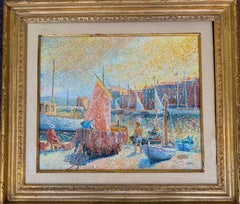 Sailboats in Saint Tropez French Oil Painting